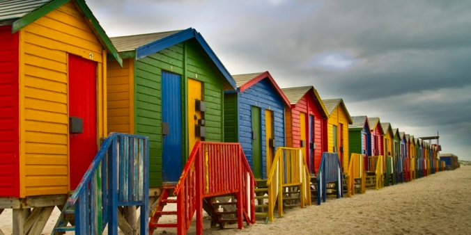 Muizenberg Beach huts, South Africa edit #2
